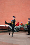 The soldier honor guard. Moscow. Royalty Free Stock Photos