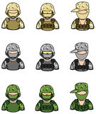 Soldier icon collection set 1 Royalty Free Stock Photography