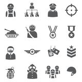 Soldier icon set. /16 vector for design Stock Images