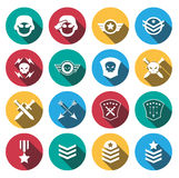 Soldier icon set.vector. illustration Royalty Free Stock Photography