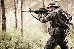 Free Soldier In The Jungle Stock Photo - 7686570