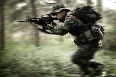 Soldier In The Jungle Royalty Free Stock Photography