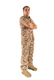 Soldier isolated Royalty Free Stock Photography