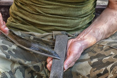 Soldier with knife Stock Photos
