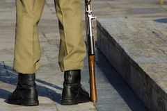 Soldier legs2. Soldier details Stock Photography