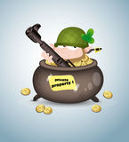 Soldier Leprechaun Royalty Free Stock Image