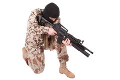 Soldier with m4 carbine Stock Image