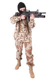 Soldier with m4 carbine Royalty Free Stock Photography