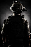 Soldier man back style fashion Royalty Free Stock Photo