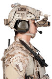 Soldier man full armor and helmet Stock Images