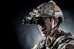 Soldier man hold Machine gun Royalty Free Stock Image