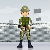 Soldier man Royalty Free Stock Photo