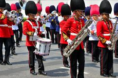 Soldier march band Royalty Free Stock Photo