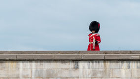 Soldier Marches at The Citadel in Quebec City Royalty Free Stock Photo