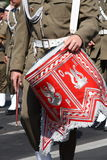 Soldier marching with drum Stock Images