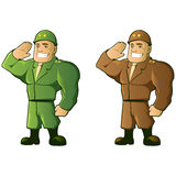 Soldier Mascot Stock Image
