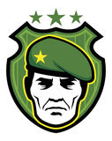 Soldier mascot Stock Images