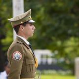 Guard at Cemetery Santa Ifigenia, Santiago de Cuba Stock Photo