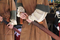 Soldier medieval times Royalty Free Stock Images