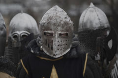Soldier of the Middle Ages. Photo royalty free stock image
