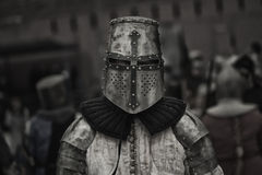 Soldier of the Middle Ages Royalty Free Stock Image