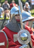 Soldier of the Middle Ages Stock Images