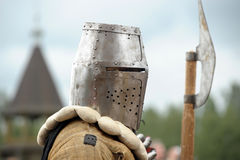 Soldier of the Middle Ages Stock Photo