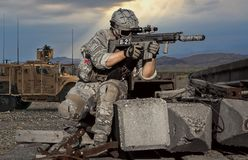 Soldier, Military, Army, Firearm stock photo