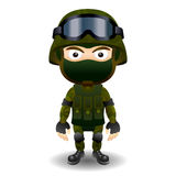 Soldier military character combat black mask Royalty Free Stock Photography