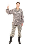Soldier in the military uniform Stock Photography
