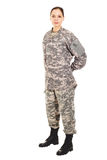 Soldier in the military uniform Royalty Free Stock Photos