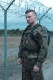Soldier in military uniform Royalty Free Stock Photos