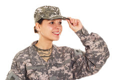 Soldier in the military uniform Royalty Free Stock Photography