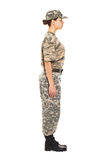 Soldier in the military uniform Royalty Free Stock Image