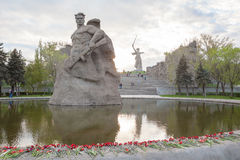 The Soldier monument and The Motherland Calls monument Royalty Free Stock Image