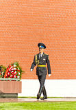 Soldier in Moscow near Kremlin Stock Photos
