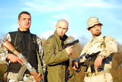 Soldier movie poster like Royalty Free Stock Photography