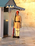 Soldier near Parliament of Athens, Greece. Stock Photo