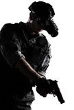Soldier with night vision goggles Royalty Free Stock Photography