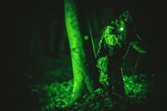 Soldier in Night Vision Royalty Free Stock Images