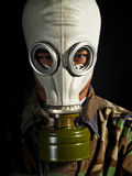 Soldier in a nuclear apocalypse Royalty Free Stock Photos