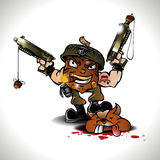 Soldier nut cartoon Stock Photo