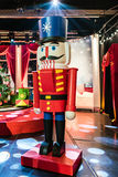 Soldier nutcracker statue standing in hall Royalty Free Stock Images