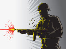 Soldier outline Royalty Free Stock Photography