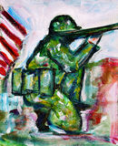 Soldier Painting Stock Photography