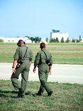 Soldier Patrol. Two soldiers performing airfield security patrol Royalty Free Stock Photo