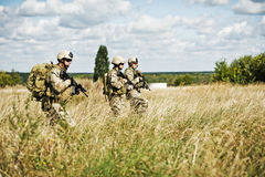 Soldier in patrol Royalty Free Stock Images
