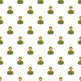 Soldier pattern, cartoon style Stock Photography