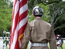 Soldier Paying Tribute. Memorial Day Service Royalty Free Stock Photography