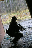 Soldier playing air soft game Stock Image
